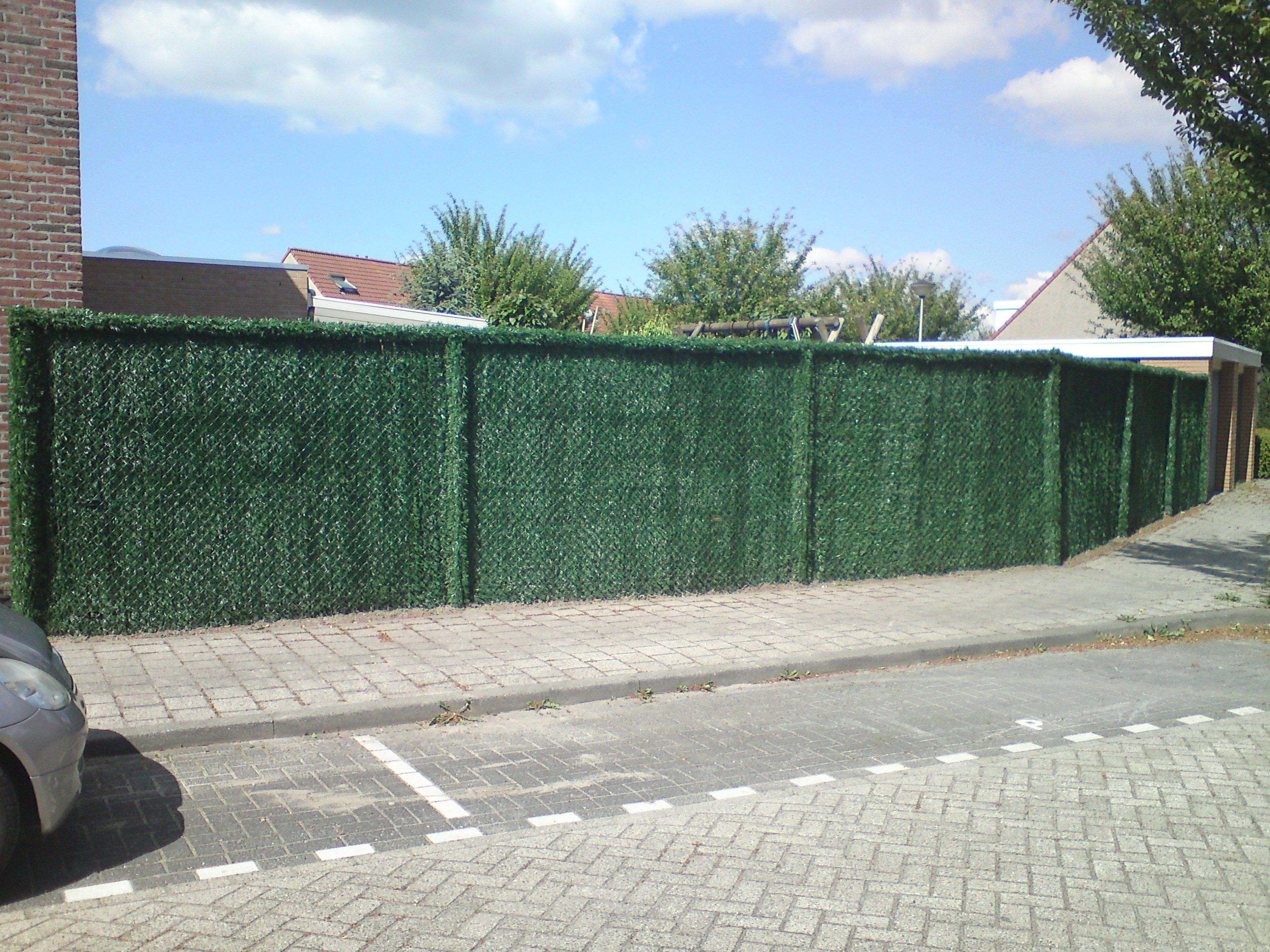kunsthaag, draadkant, palen bekleed hoek, Safegarden.be, filiaal Antwerpenen filiaal Limburg