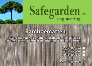 Gepleten bamboe matten kopen, eenvoudig bevestigen tegen schutting