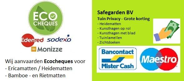 Ecocheques Safegarden Tuin Privacy : Heidematten, Ericamatten, Rietmatten, Bamboematten